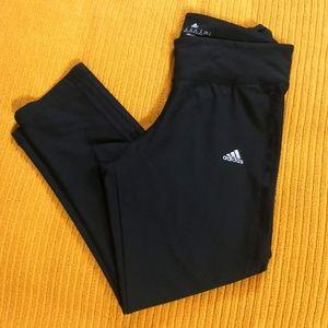 Adidas climalite black capri leggings